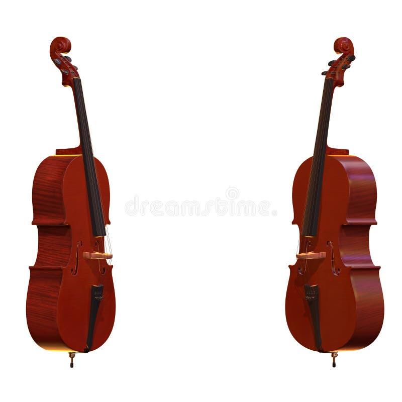 Τρισδιάστατη απεικόνιση οργάνων βιολοντσέλων μουσική απεικόνιση αποθεμάτων