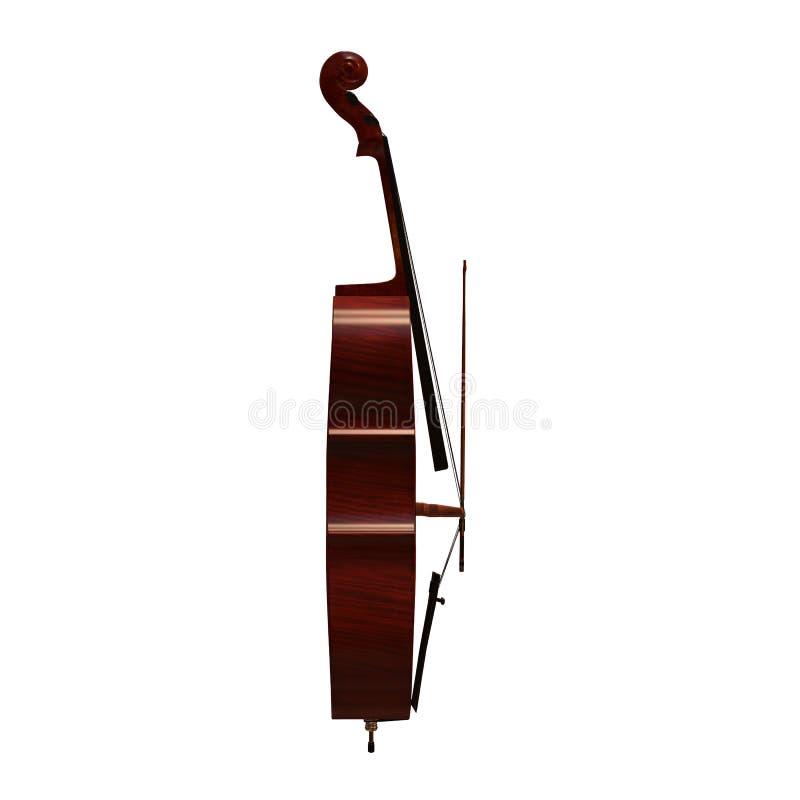 Τρισδιάστατη απεικόνιση οργάνων βιολοντσέλων μουσική διανυσματική απεικόνιση