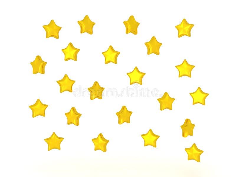 τρισδιάστατη απεικόνιση πολλών λαμπρών αστεριών διανυσματική απεικόνιση