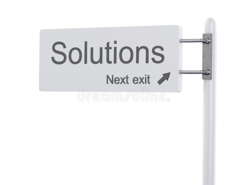 τρισδιάστατη απεικόνιση Σημάδι εθνικών οδών, οι επόμενες λύσεις εξόδων απομονωμένος ελεύθερη απεικόνιση δικαιώματος