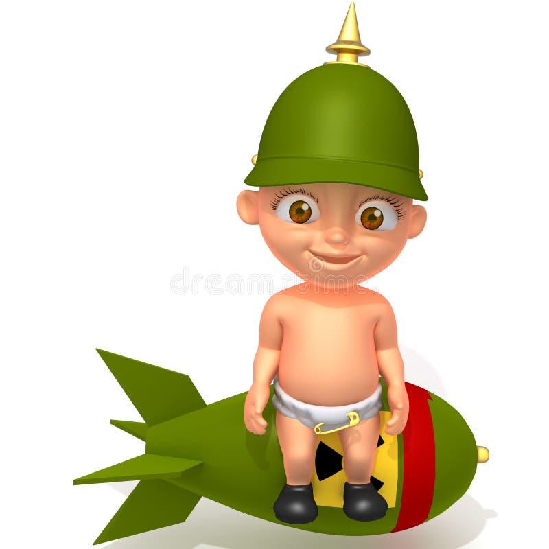 Τρισδιάστατη απεικόνιση στρατιωτών του Jake μωρών απεικόνιση αποθεμάτων
