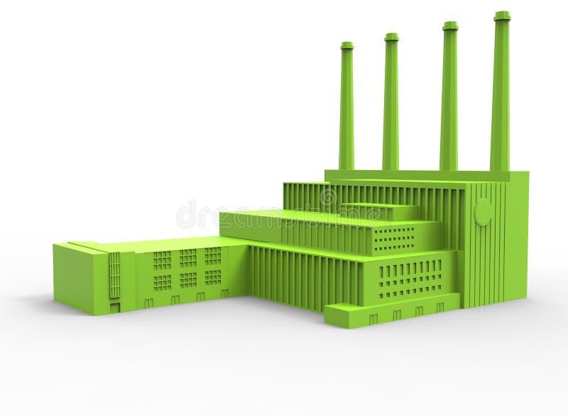 τρισδιάστατη απεικόνιση του εργοστασίου ελεύθερη απεικόνιση δικαιώματος