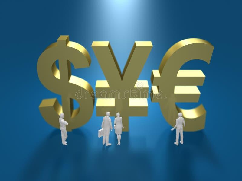 τρισδιάστατη απεικόνιση του οικονομικού συστήματος απεικόνιση αποθεμάτων