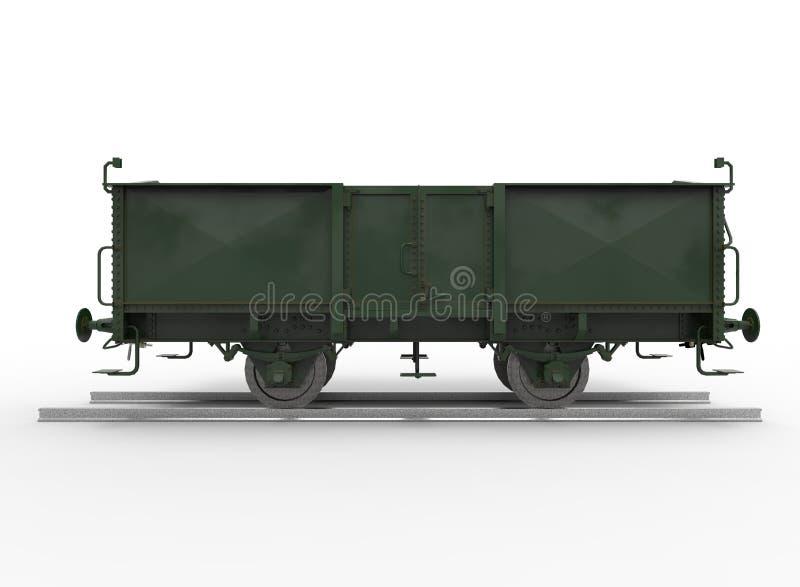 τρισδιάστατη απεικόνιση του τραίνου βαγονιών εμπορευμάτων απεικόνιση αποθεμάτων