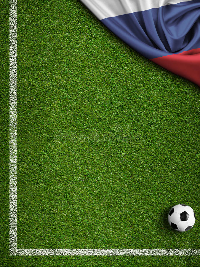 Τρισδιάστατη απεικόνιση υποβάθρου της Ρωσίας 2018 Παγκόσμιου Κυπέλλου ποδοσφαίρου ελεύθερη απεικόνιση δικαιώματος