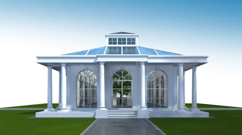 τρισδιάστατη απόδοση της οικοδόμησης του εξωτερικού Προοπτική αρχιτεκτονικής τρισδιάστατη απεικόνιση αποθεμάτων