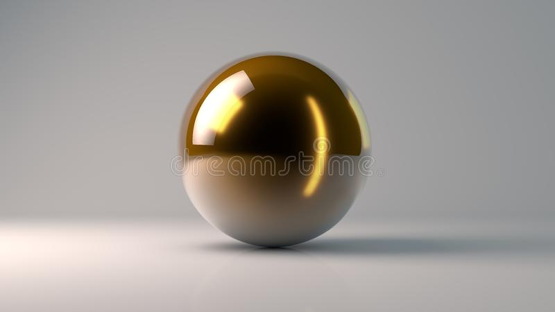 τρισδιάστατη απόδοση της χρυσής σφαίρας απεικόνιση αποθεμάτων