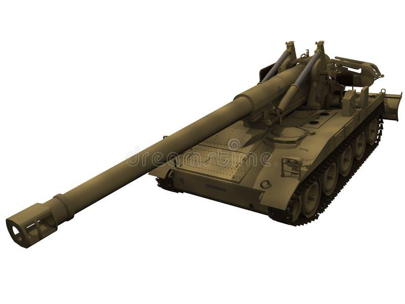 τρισδιάστατη απόδοση Howitzer M110A2 διανυσματική απεικόνιση