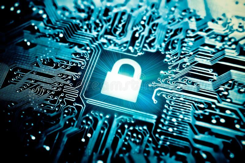 τρισδιάστατη ασφάλεια μηνυτόρων απεικόνισης υπολογιστών στοκ φωτογραφία με δικαίωμα ελεύθερης χρήσης
