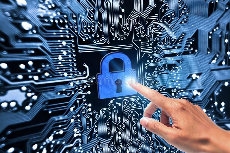 τρισδιάστατη ασφάλεια μηνυτόρων απεικόνισης υπολογιστών στοκ φωτογραφίες