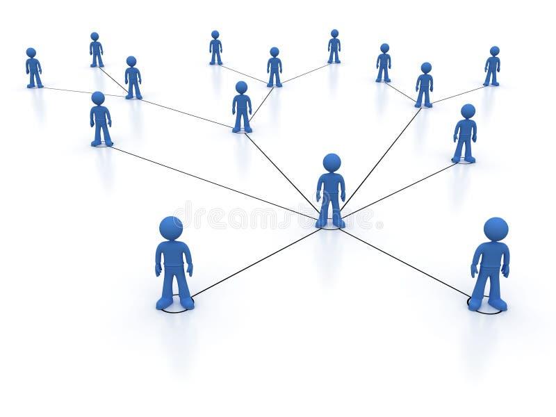 τρισδιάστατη εικόνα δικτύων που καθίσταται κοινωνική απεικόνιση αποθεμάτων