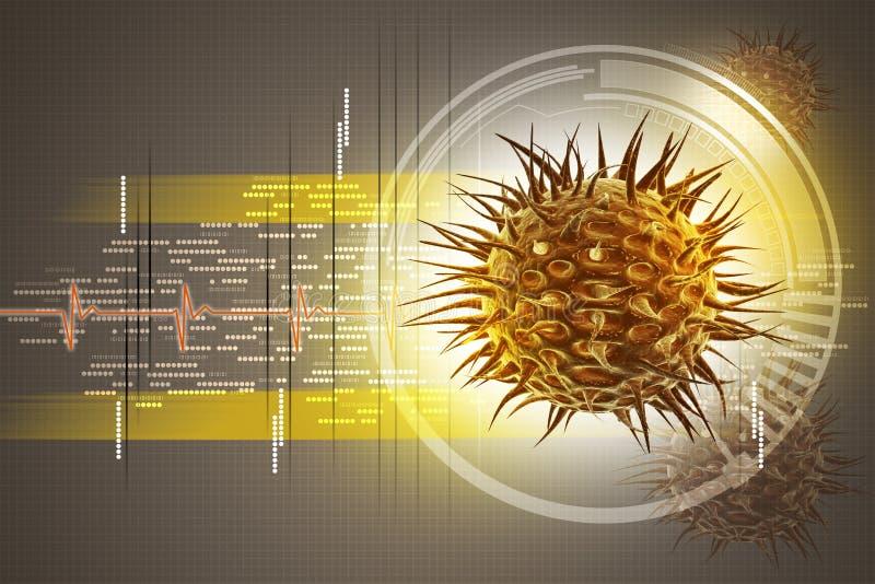 Τρισδιάστατη εικόνα ιών απεικόνιση αποθεμάτων