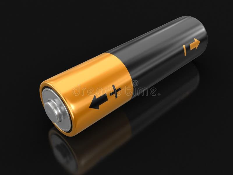 τρισδιάστατη εικόνα της μπαταρίας διανυσματική απεικόνιση
