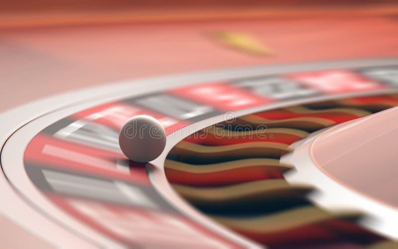 τρισδιάστατη εικόνα χαρτοπαικτικών λεσχών που δίνεται τη ρουλέτα στοκ εικόνα με δικαίωμα ελεύθερης χρήσης