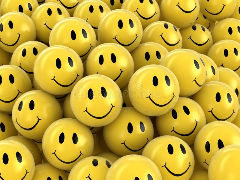 τρισδιάστατη εικόνα Smileys ελεύθερη απεικόνιση δικαιώματος
