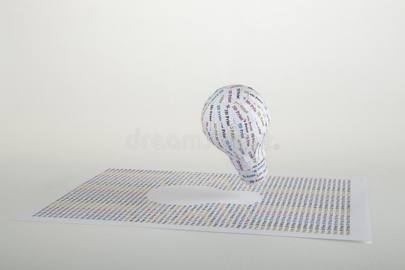 Τρισδιάστατη εκτύπωση CYMK στοκ φωτογραφία