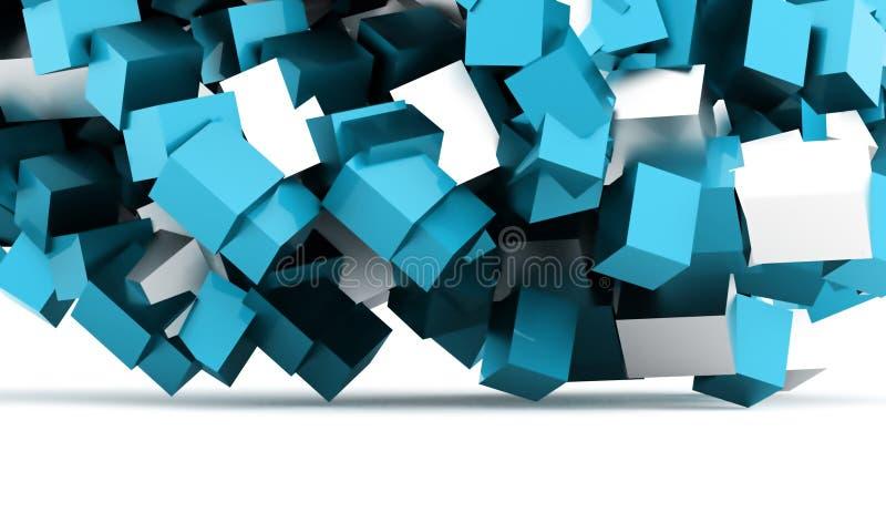 τρισδιάστατη επιχειρησιακή έννοια υποβάθρου κύβων που δίνεται διανυσματική απεικόνιση