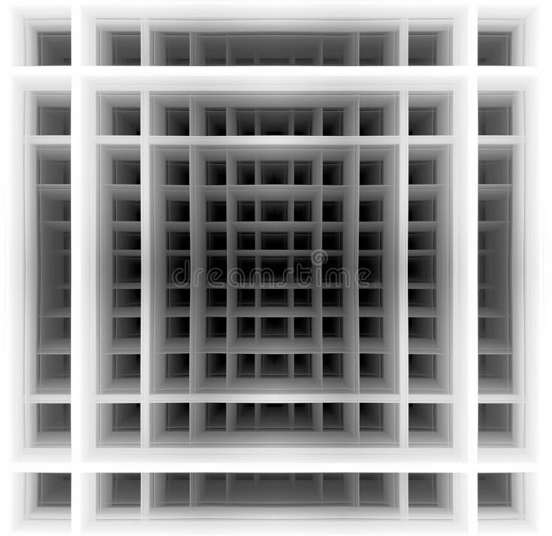 Τρισδιάστατη μορφή - γραπτά τετράγωνα ελεύθερη απεικόνιση δικαιώματος