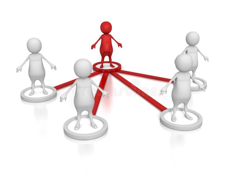 Τρισδιάστατη ομάδα ομάδας ανθρώπων έννοιας δομών επιχειρησιακής σχέσης διανυσματική απεικόνιση