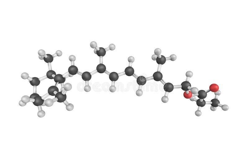 τρισδιάστατη δομή propionate Retinyl, ήπιος, ανεκτός ένας ρητινοειδής ελεύθερη απεικόνιση δικαιώματος