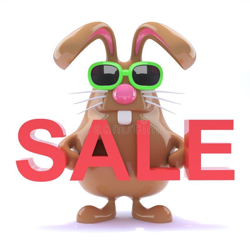 τρισδιάστατη πώληση λαγουδάκι Πάσχας απεικόνιση αποθεμάτων