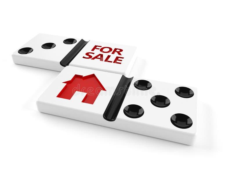 τρισδιάστατη πώληση απεικόνισης σπιτιών έννοιας διανυσματική απεικόνιση