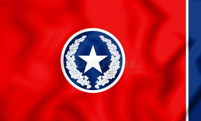 τρισδιάστατη σημαία του Σατανούγκα Τένεσι, ΗΠΑ διανυσματική απεικόνιση