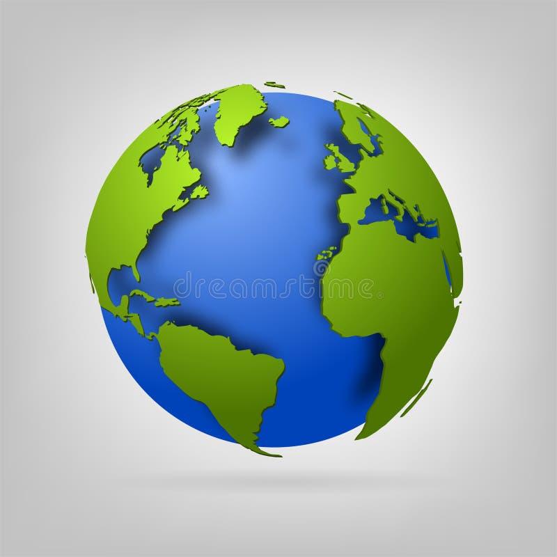 τρισδιάστατη σφαίρα του κόσμου. ελεύθερη απεικόνιση δικαιώματος