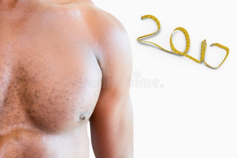 τρισδιάστατη σύνθετη εικόνα του bodybuilder στοκ φωτογραφίες με δικαίωμα ελεύθερης χρήσης