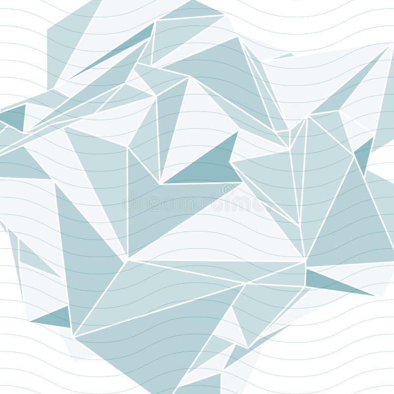 τρισδιάστατη χωρική τεχνολογία που καλύπτει με τις κυματιστές γραμμές, op υπόβαθρο τέχνης απεικόνιση αποθεμάτων