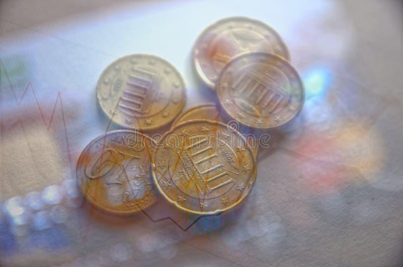 τρισδιάστατη όμορφη απεικόνιση τρία αριθμού ανταλλαγής νομίσματος διαστατική ευρο- πολύ στοκ φωτογραφία