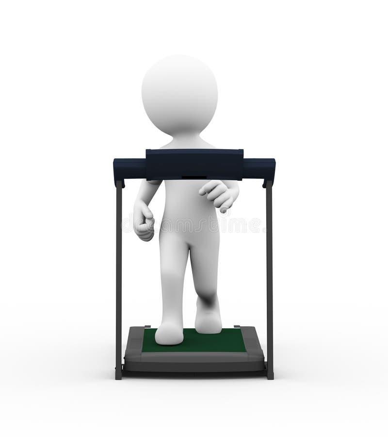τρισδιάστατη treadmill ατόμων άσκηση ελεύθερη απεικόνιση δικαιώματος