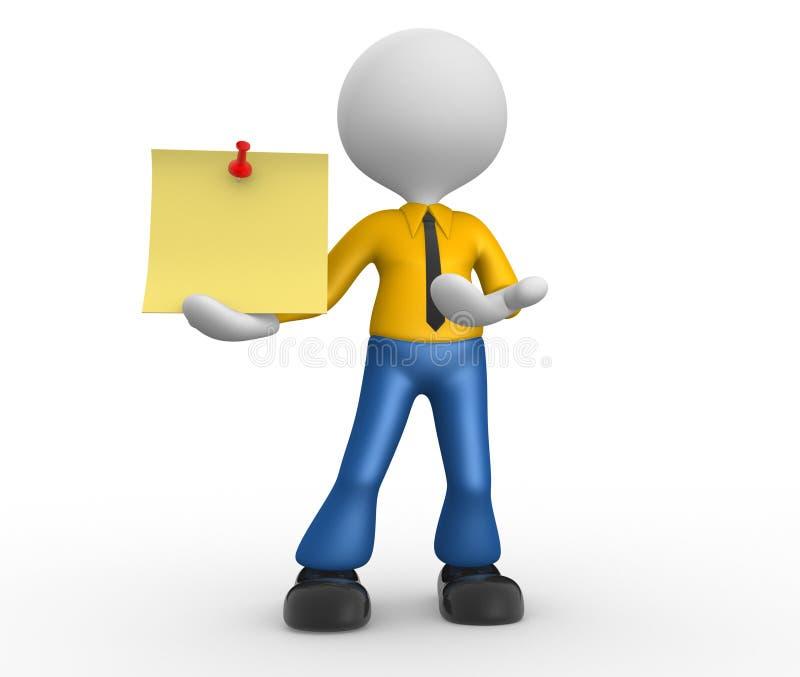 Κίτρινο έγγραφο απεικόνιση αποθεμάτων
