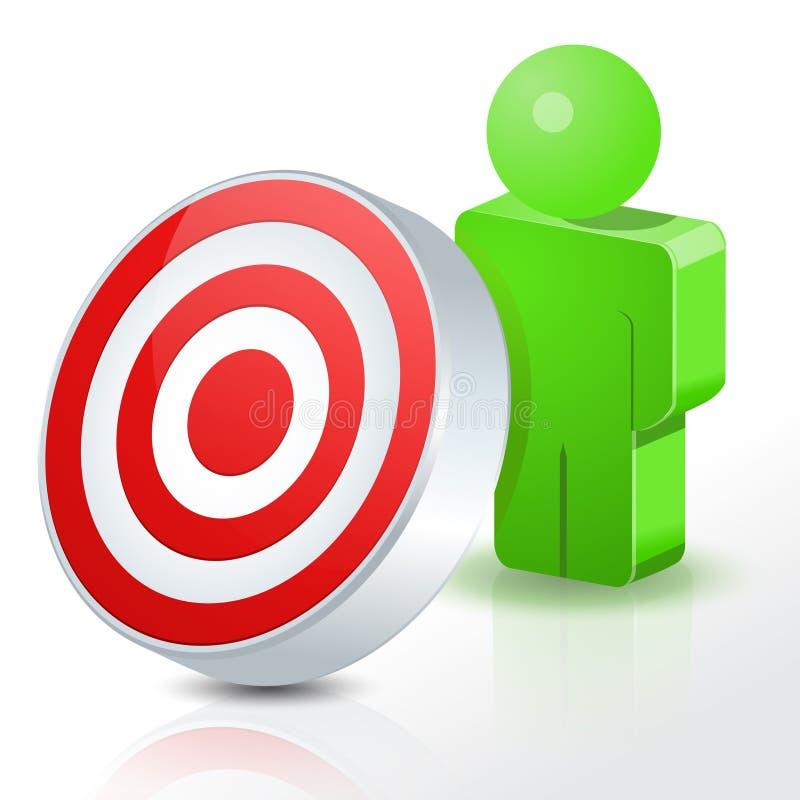 Τρισδιάστατοι άνθρωποι Bullseye ελεύθερη απεικόνιση δικαιώματος