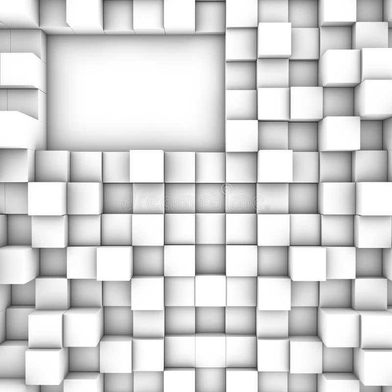 τρισδιάστατοι κύβοι ανα&sigm απεικόνιση αποθεμάτων