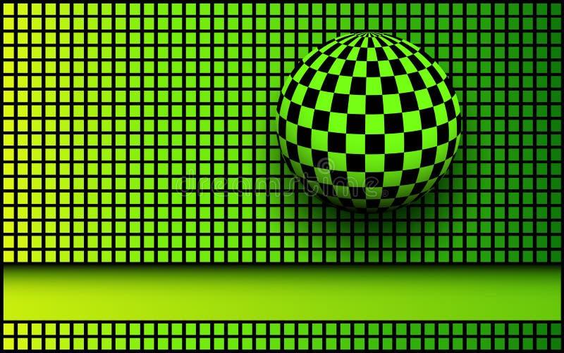 Τρισδιάστατοι μαύρος υποβάθρου και πράσινος απεικόνιση αποθεμάτων