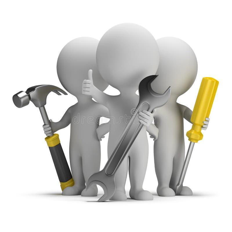 τρισδιάστατοι μικροί άνθρωποι - άριστοι επιδιορθωτές