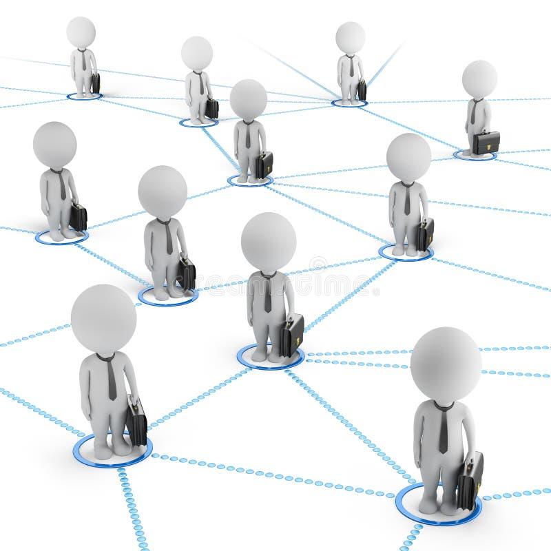 τρισδιάστατοι μικροί άνθρωποι - επιχειρησιακό δίκτυο ελεύθερη απεικόνιση δικαιώματος