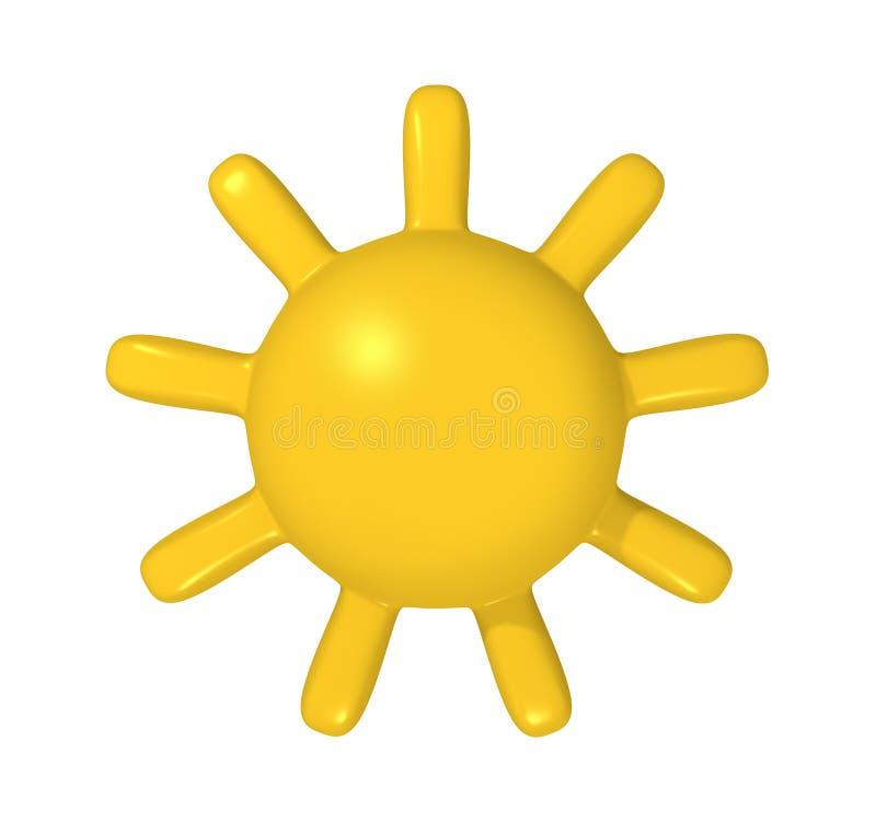 τρισδιάστατος ήλιος διανυσματική απεικόνιση