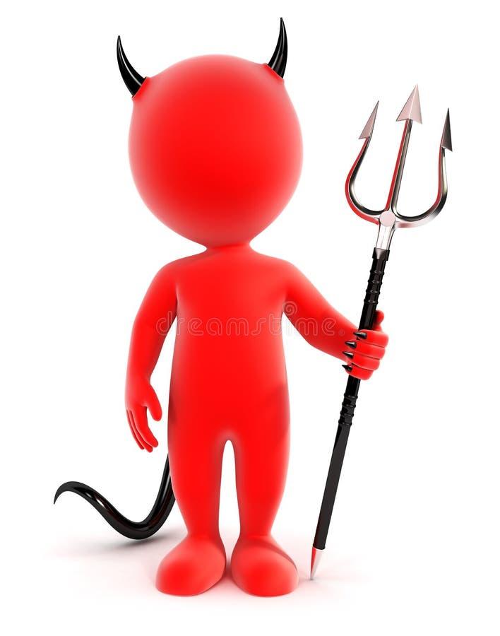τρισδιάστατος λευκός διάβολος ανθρώπων ελεύθερη απεικόνιση δικαιώματος