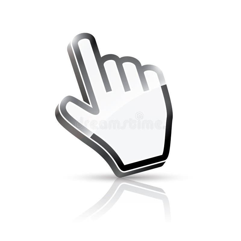 τρισδιάστατος διανυσματικός δρομέας χεριών διανυσματική απεικόνιση