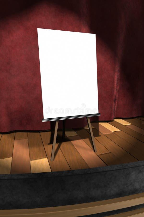 τρισδιάστατος: Κενό σημάδι στη σκηνή ελεύθερη απεικόνιση δικαιώματος