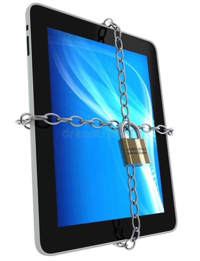 Κινητή διαχείριση συσκευών διανυσματική απεικόνιση