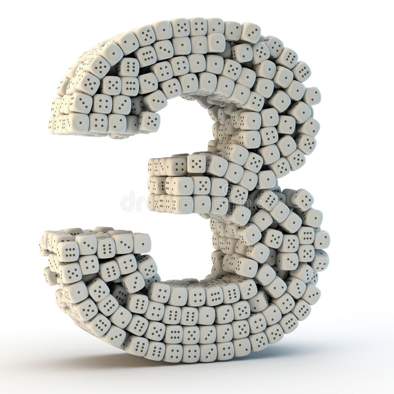 τρισδιάστατος δώστε τον αριθμό τρία ελεύθερη απεικόνιση δικαιώματος