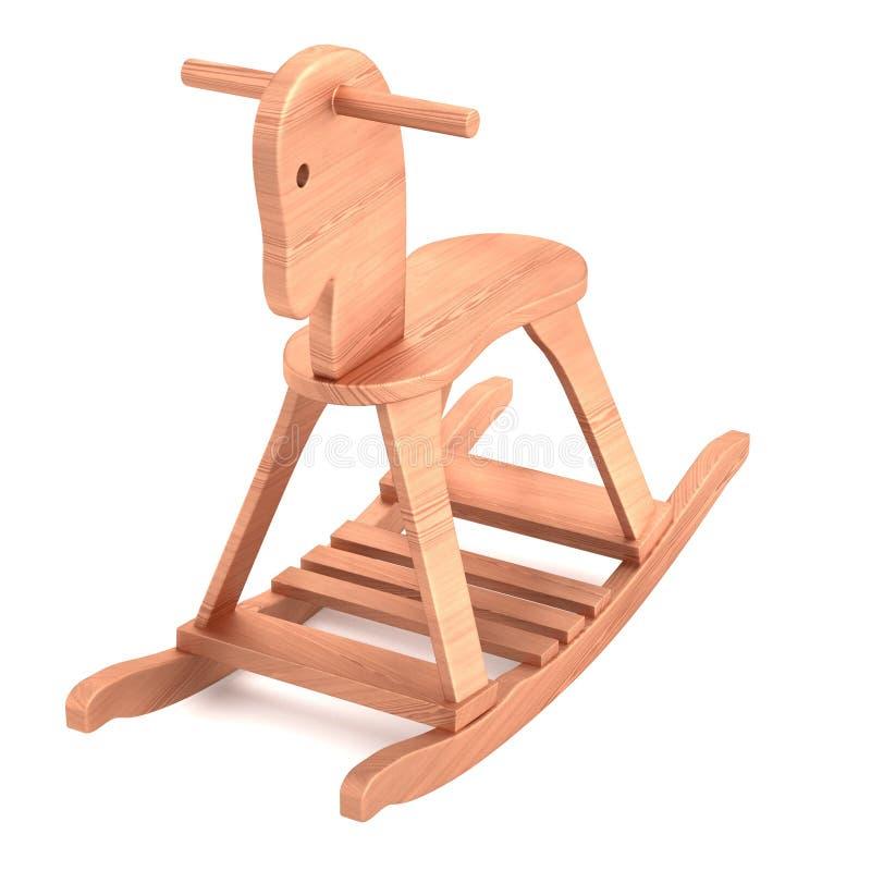 τρισδιάστατος δώστε του ξύλινου παιχνιδιού διανυσματική απεικόνιση