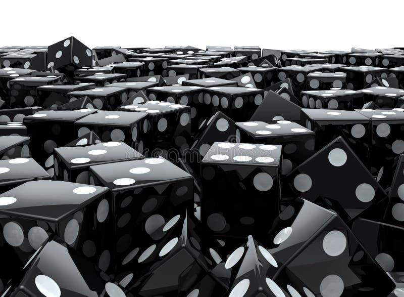 Ο Μαύρος χωρίζει σε τετράγωνα το σωρό ελεύθερη απεικόνιση δικαιώματος