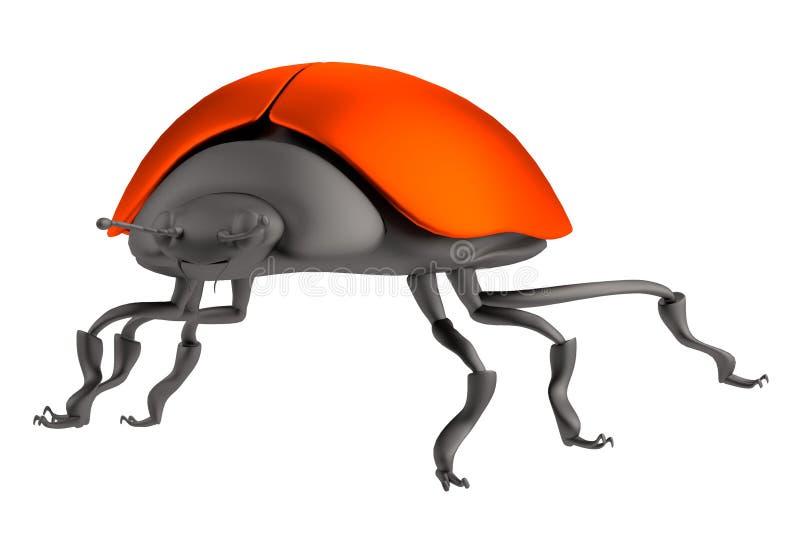 τρισδιάστατος δώστε του ladybug ελεύθερη απεικόνιση δικαιώματος