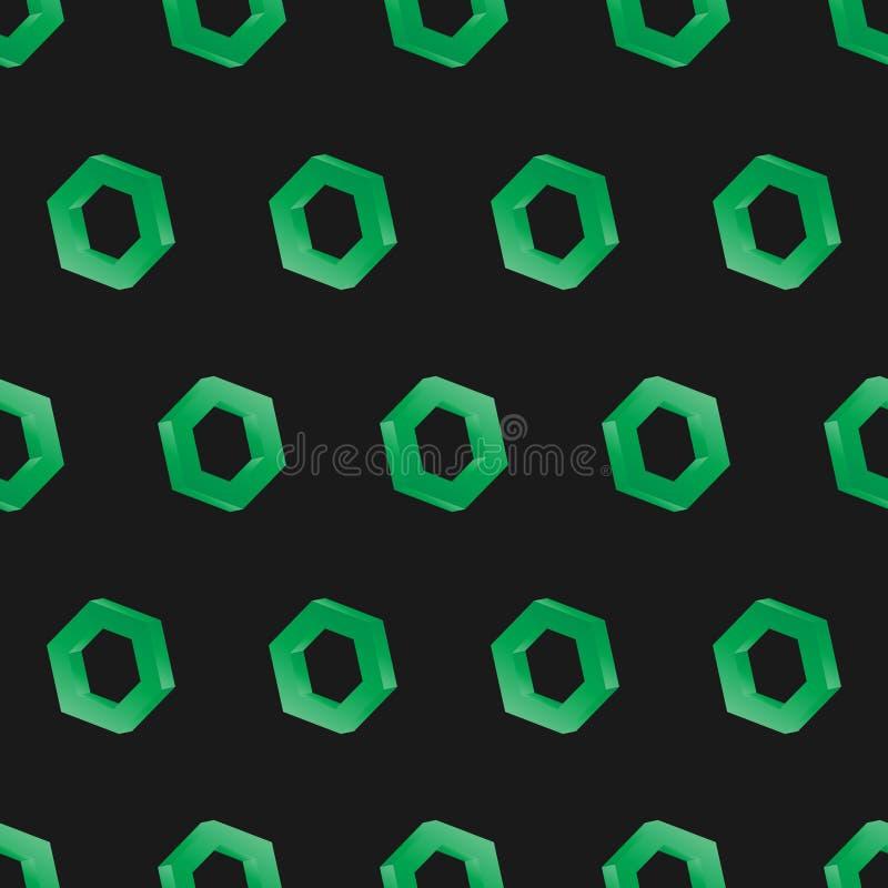 τρισδιάστατο άνευ ραφής hexagon σκοτάδι υποβάθρου ελεύθερη απεικόνιση δικαιώματος