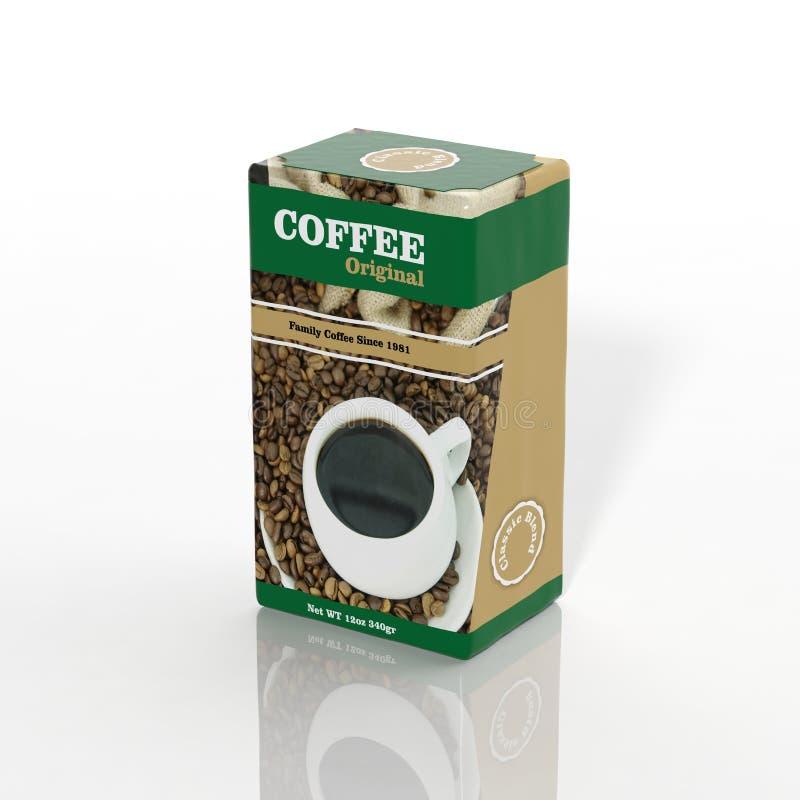 τρισδιάστατο έγγραφο καφέ διανυσματική απεικόνιση