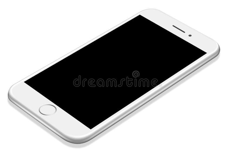 τρισδιάστατο απεικόνισης ρεαλιστικό πρότυπο smartphone προοπτικής άσπρο διανυσματική απεικόνιση